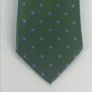 Brooks Brothers Green Floral Tie